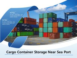 Cargo Container Storage Near Sea Port