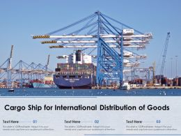 Cargo Ship For International Distribution Of Goods