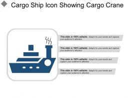 Cargo Ship Icon Showing Cargo Crane
