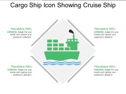 Cargo Ship Icon Showing Cruise Ship