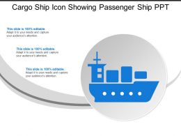 Cargo Ship Icon Showing Passenger Ship Ppt