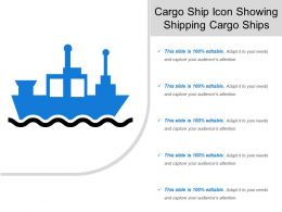 Cargo Ship Icon Showing Shipping Cargo Ships