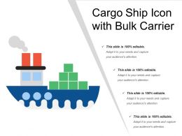 Cargo Ship Icon With Bulk Carrier