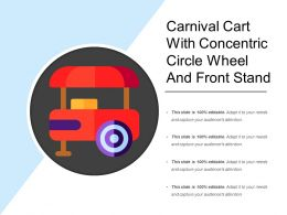 Carnival Cart With Concentric Circle Wheel And Front Stand