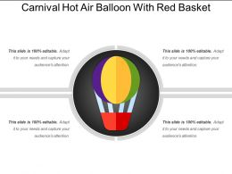 Carnival Hot Air Balloon With Red Basket