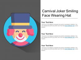 Carnival Joker Smiling Face Wearing Hat