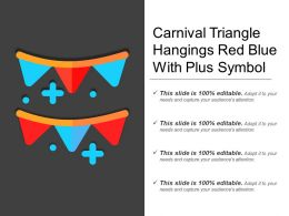 Carnival Triangle Hangings Red Blue With Plus Symbol