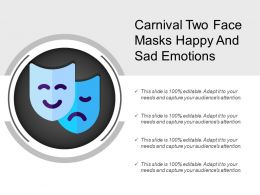 Carnival Two Face Masks Happy And Sad Emotions