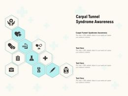Carpal Tunnel Syndrome Awareness Ppt Powerpoint Presentation Portfolio Vector