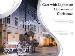 Cart With Lights On Occasion Of Christmas