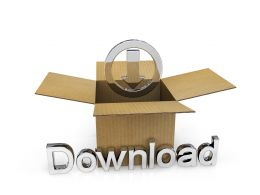 Carton With Download Option Stock Photo