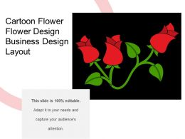 Cartoon Flower Flower Design Business Design Layout