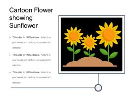 Cartoon Flower Showing Sunflower