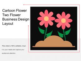 Cartoon Flower Two Flower Business Design Layout