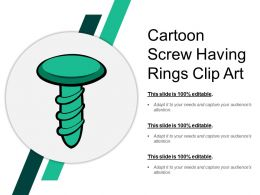 Cartoon Screw Having Rings Clip Art