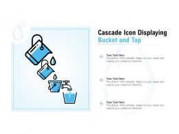 Cascade Icon Displaying Bucket And Tap