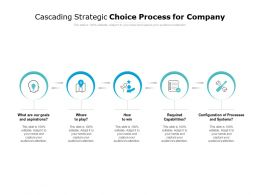 Cascading Strategic Choice Process For Company