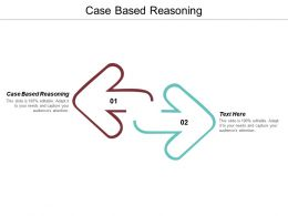 Case Based Reasoning Ppt Powerpoint Presentation Icon Outfit Cpb