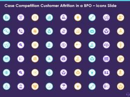 Case Competition Customer Attrition In A BPO Icons Slide Ppt Styles Portrait