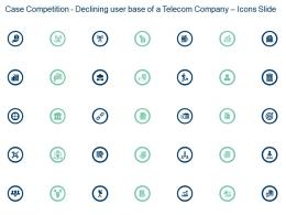 Case Competition Declining User Base Of A Telecom Company Icons Slide Ppt Slides