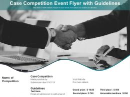 Case Competition Event Flyer With Guidelines