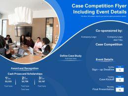 Case Competition Flyer Including Event Details