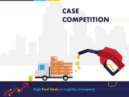 Case Competition High Fuel Costs In Logistics Company Powerpoint Presentation Slides