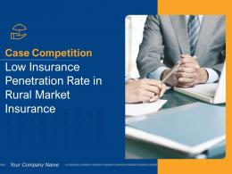 Case Competition Low Insurance Penetration Rate In Rural Market Insurance Complete Deck