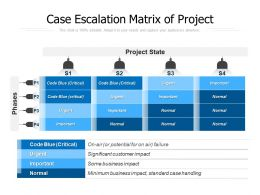 Case Escalation Matrix Of Project