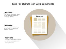 Case For Change Icon With Documents