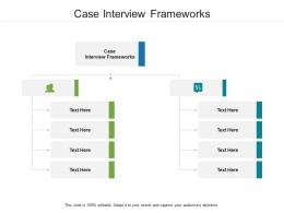 Case Interview Frameworks Ppt Powerpoint Presentation Model Vector Cpb