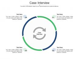 Case Interview Ppt Powerpoint Presentation Portfolio Graphic Images Cpb