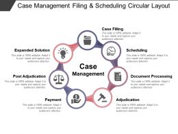 Case Management Filing And Scheduling Circular Layout
