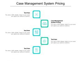 Case Management System Pricing Ppt Powerpoint Presentation Ideas Gallery Cpb