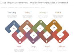Case Progress Framework Template Powerpoint Slide Background