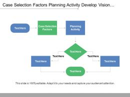 Case Selection Factors Planning Activity Develop Vision Interactive Representation