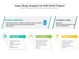 Case Study Analysis For Soft Drink Product