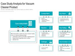 Case Study Analysis For Vacuum Cleaner Product