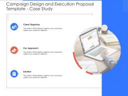 Case Study Campaign Design And Execution Proposal Template Ppt Powerpoint Presentation Styles