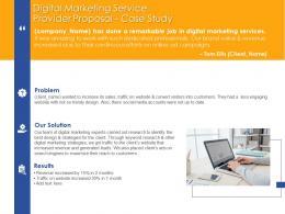 Case Study Digital Marketing Service Provider Proposal Ppt Powerpoint Presentation Images