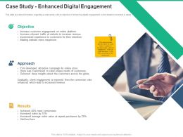 Case Study Enhanced Digital Engagement Approach Results Ppt Powerpoint Presentation Slides