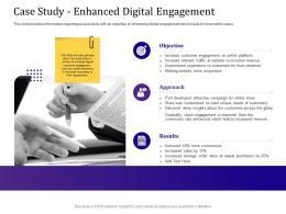 Case Study Enhanced Digital Engagement Empowered Customer Engagement Ppt Slides Tips