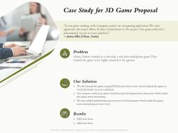 Case Study For 3D Game Proposal Ppt Powerpoint Presentation Inspiration Background