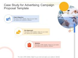 Case Study For Advertising Campaign Proposal Template Ppt Powerpoint Presentation Styles