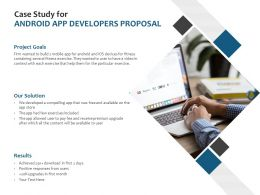 Case Study For Android App Developers Proposal Ppt Powerpoint Images
