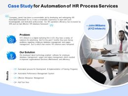 Case Study For Automation Of HR Process Services Ppt Powerpoint Presentation Icon