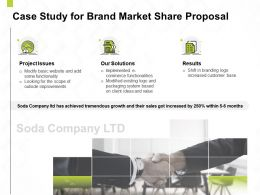 Case Study For Brand Market Share Proposal Ppt Powerpoint Presentation Ideas