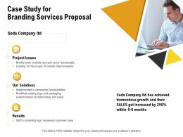 Case Study For Branding Services Proposal Ppt Powerpoint Presentation Portfolio