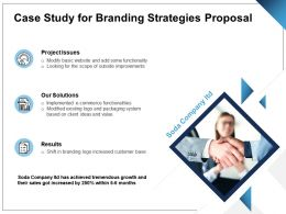 Case Study For Branding Strategies Proposal Ppt Powerpoint Presentation Pictures Brochure