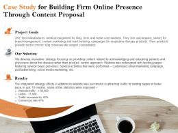 Case Study For Building Firm Online Presence Through Content Proposal Ppt File